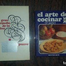 Libros de segunda mano: 2 LIBROS DE COCINA. GRAN ENCICLOPEDIA DE LA COCINA Y EL ARTE DE COCINAR.. Lote 87075684