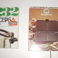 Libros de segunda mano: COCINA. RECETARIOS DE MAGEFESA, AÑOS 70, 2 DIFERENTES. Lote 87185360