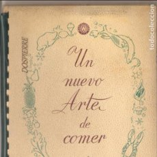 Libros de segunda mano: PUBLICIDAD-RECETARIO, UN NUEVO ARTE DE COMER, ED. FRIMOTOR-WESTINGHOUSE. . Lote 87428328