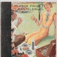 Libros de segunda mano: MENAJE, REVISTA MENSUAL DE COCINA Y HOGAR, Nº 162, JUNIO 1944. PLATOS FRIOS Y PASTELERÍA. Lote 87584380