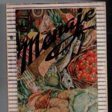 Libros de segunda mano: MENAJE, REVISTA MENSUAL DE COCINA Y HOGAR, Nº 140. AGOSTO, 1942. ¿CÓMO SE GUISAN LAS PATATAS?. Lote 87585452
