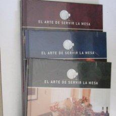 Libros de segunda mano: EL ARTE DE SERVIR LA MESA - 3 TOMOS - SIN DESPRECINTAR. Lote 91122735