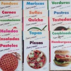Libros de segunda mano: BUEN PROVECHO RECETAS CON CHISPA 16 LIBROS. PASTELES, HELADOS, ENSALADAS, HAMBURGUESAS, COMBINADOS. Lote 93916015