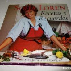 Libros de segunda mano: SOFÍA LOREN . RECETAS Y RECUERDOS.. Lote 94453202
