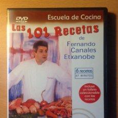 Libros de segunda mano: COCINA - DVD - LAS 101 RECETAS DE FERNANDO CANALES ETXANOBE - CORDERO Y CERDO. Lote 95830171