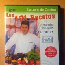 Libros de segunda mano: COCINA - DVD - LAS 101 RECETAS DE FERNANDO CANALES ETXANOBE - ENSALADAS Y PINCHOS. Lote 95830567