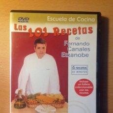 Libros de segunda mano: COCINA - DVD - LAS 101 RECETAS DE FERNANDO CANALES ETXANOBE - PASTA. Lote 95830867