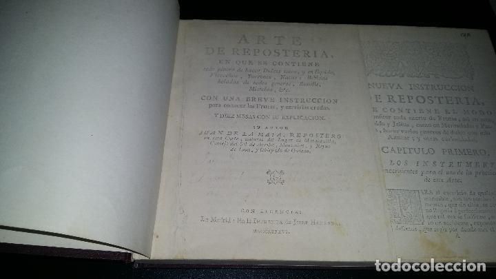 Libros de segunda mano: arte de reposteria / juan de la mata - Foto 2 - 95848807
