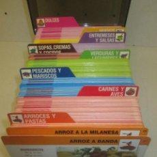Libros de segunda mano: ARCHIVO FICHERO, COMER BIEN DE SARPE, 530 FICHAS APROX., COCINA, RECETAS. Lote 97417491