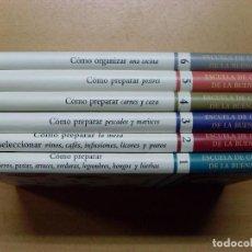 Libros de segunda mano: ESCUELA DE COCINA Y DE LA BUENA MESA / KARLOS ARGUIÑANO-JUAN MARI ARZAK / 1999 / 6 TOMOS. Lote 98495303