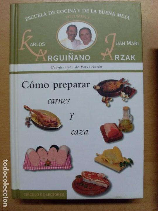 Libros de segunda mano: ESCUELA DE COCINA Y DE LA BUENA MESA / Karlos Arguiñano-Juan Mari Arzak / 1999 / 6 tomos - Foto 5 - 98495303