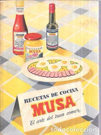 RECETAS DE COCINA MUSA. EL ARTE DEL BUEN COMER. (Libros de Segunda Mano - Cocina y Gastronomía)