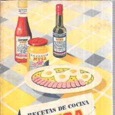 Libros de segunda mano: RECETAS DE COCINA MUSA. EL ARTE DEL BUEN COMER. . Lote 99497419