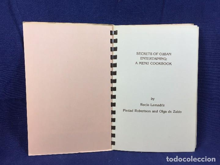Libros de segunda mano: libro cocina secrets of cuban entertaining menu cookbook recetas recipes cubanas cuba 2a ed 1981 - Foto 3 - 128591422