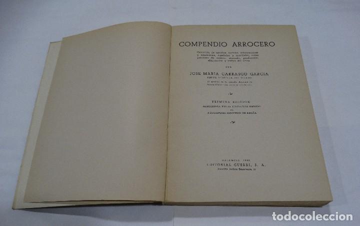 Libros de segunda mano: Compendio arrocero: colección de estudios, noticias... Carrasco García. 1952 1ª Edicción - Foto 2 - 103077219