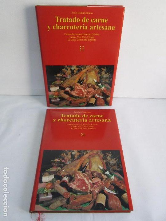 TRATADO DE CARNE Y CHARCUTERIA ARTESANA. JESUS LLONA LARRAURI. EDITA HEGAR MONSA 1998 (Libros de Segunda Mano - Cocina y Gastronomía)