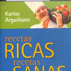 Libros de segunda mano: RECETAS RICAS, RECETAS SANAS.. Lote 106139958