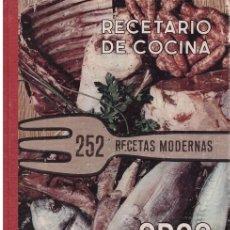 Libros de segunda mano: RECETARIO DE COCINA. 252 RECETAS MODERNAS. Lote 69313807