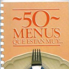 Libros de segunda mano: 50 MENUS QUE ESTAN MUY ...... GALLINA BLANCA . Lote 111674675