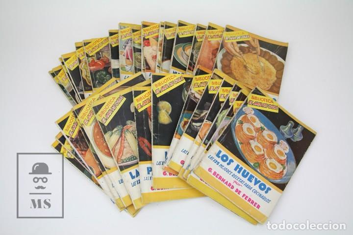 CONJUNTO DE 33 LIBROS ANTIGUOS - BIBLIOTECA EL AMA DE CASA - EDITORIAL MOLINO - AÑOS 30 (Libros de Segunda Mano - Cocina y Gastronomía)