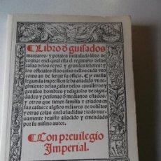 Libros de segunda mano: LIBRO DE GUISADOS MANJARES Y POTAGES INTITULADO LIBRO DE COZINA DE RUPERTO DE NOLA,1996. Lote 112981987