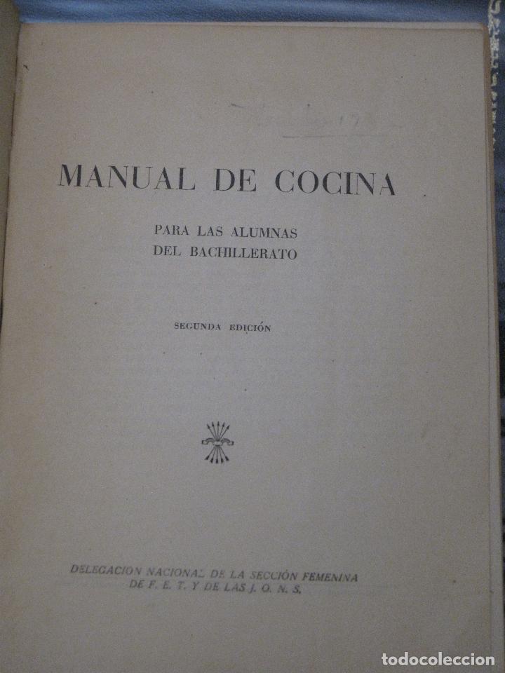 Libros de segunda mano: COCINA - SECCION FEMENINA DE FET Y JONS. - - Foto 2 - 115101831