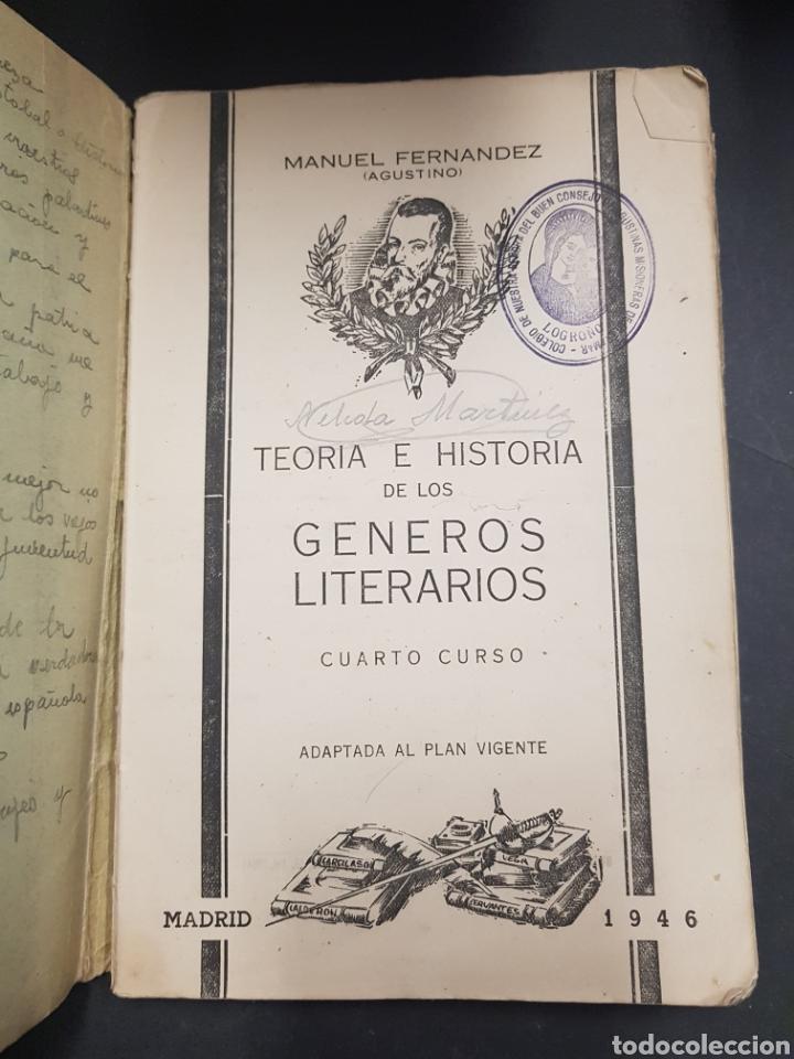 Libros de segunda mano: TEORIA E HISTORIA DE LOS GENEROS LITERARIOS - CUARTO CURSO - MANUEL FERNANDEZ - tdk143 - Foto 2 - 115887335