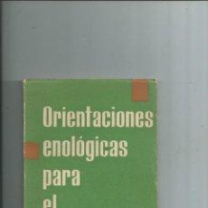 Libros de segunda mano: VINO VINOS - ORIENTACIONES ENOLOGICAS PARA EL BODEGUERO DR. MARECA CORTES VALENCIA 1957. Lote 116480487