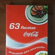 Libros de segunda mano: 63 RECETAS COCA COLA. COCINA. NUEVO. Lote 116677523