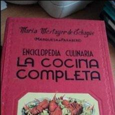 Gebrauchte Bücher - Enciclopedia Culinaria LA COCINA COMPLETA, Maria Mestayer de Echagüe (Marquesa de Parabere) - 117003775