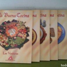 Libros de segunda mano: COLECCIÓN LA BUENA COCINA. ED. RUEDA, 1999. 6 TOMOS + LIBRO PEDRO SUBIJANA Y 6 CINTAS VHS DE REGALO.. Lote 117618662