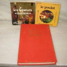 Libros de segunda mano: 3 LIBROS DE COCINA EN FRANCÉS. Lote 118717159