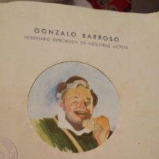 Libros de segunda mano: 1947 ELABORACIÓN DEL QUESO MANCHEGO A BASE DE LEVADURA. Lote 119588854