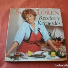 Livres d'occasion: RECETAS Y RECUERDOS - SOFÍA LOREN. Lote 265416669
