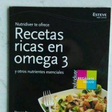 Libros de segunda mano: RECETAS RICAS EN OMEGA 3. Lote 120757384