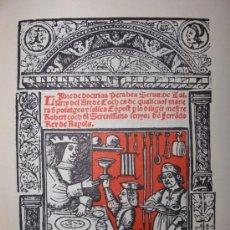 Libros de segunda mano: LIBRO DE COCH,AÑO 1520,PRIMER TRATADO COCINA MEDIEVAL EN CATALAN,FACSIMIL SOLO 500,GASTRONOMIA. Lote 120959563