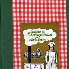 Libros de segunda mano: RECEPTES DE CUINA EMPORDANESA PER JOAN DURAN. Lote 121238839