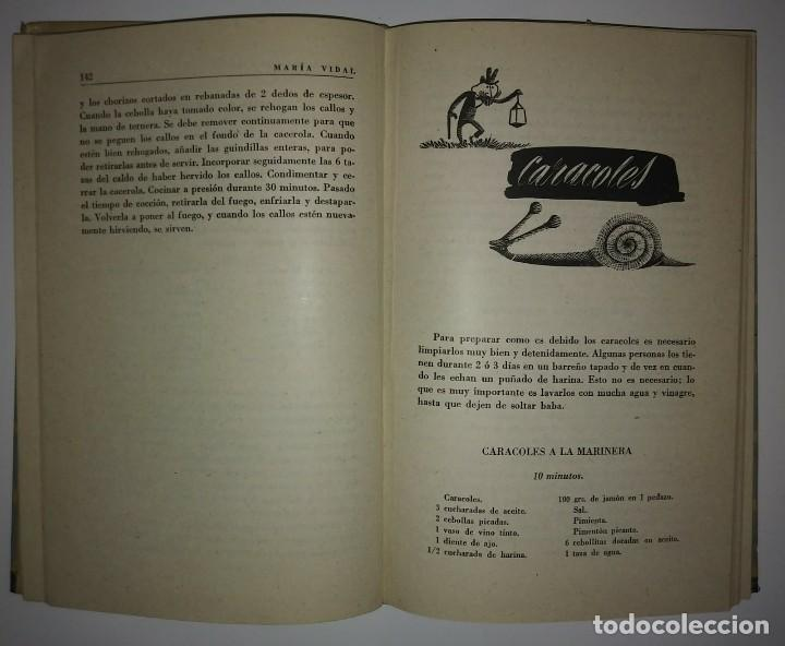 Libros de segunda mano: LA COCINA CON OLLA A PRESIÓN. MARIA VIDAL. EDICIONES GINER 1957 - 396 páginas LIBROS DE COCINA - Foto 4 - 122173411