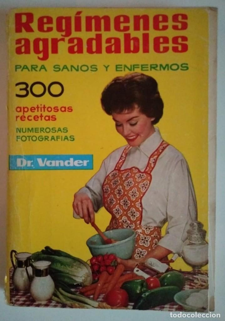 REGÍMENES AGRADABLES PARA SANOS Y ENFERMOS A. VANDER DEPOSITARIO AÑO 1976 - LIBROS DE COCINA R50 (Libros de Segunda Mano - Cocina y Gastronomía)