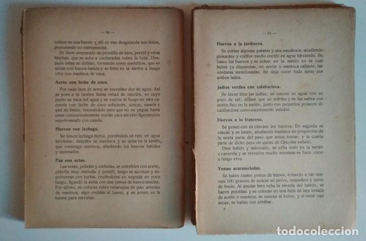 Libros de segunda mano: 1920 Cocina vegetariana. Manual práctico de alimentación higiénica. R.P. Sansón. 4ª edición - Foto 6 - 122184331