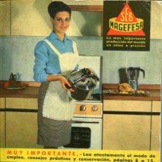Livros em segunda mão: MAGEFESA- RECETAS DE COCINA- 1967. Lote 125060687