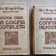 Libros de segunda mano: ENCICLOPEDIA CULINARIA: LA COCINA COMPLETA Y CONFITERÍA Y REPOSTERÍA, MARIÁ MESTAYER DE ECHAGÜE (MAR. Lote 251037530