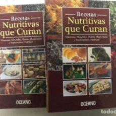 Libros de segunda mano: RECETAS NUTRITIVAS QUE CURAN, VITAMINAS, MINERALES, PLANTAS MEDICINALES Y SUPLEMENTOS DIETÉTICOS.POR. Lote 125974491