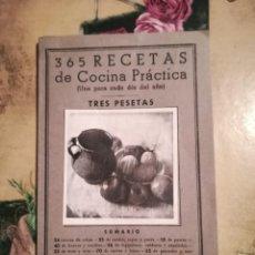 Libros de segunda mano: 365 RECETAS DE COCINA PRÁCTICA (UNA PARA CADA DÍA DEL AÑO) - 5ª EDICIÓN. Lote 126477283