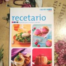 Libros de segunda mano: RECETARIO ESPECIAL PARA CLIENTES DE CAPRABO. MÁS DE 50 SABROSAS IDEAS PARA LAS 4 ESTACIONES. Lote 126678295