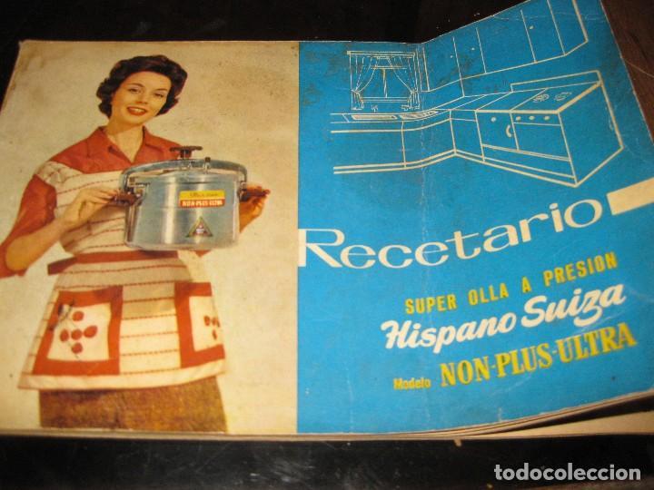 REVISTA RECETARIO RECETAS COCINA SUPER OLLA A PRESION HISPANO SUIZA . INSTRUCCIONES (Libros de Segunda Mano - Cocina y Gastronomía)