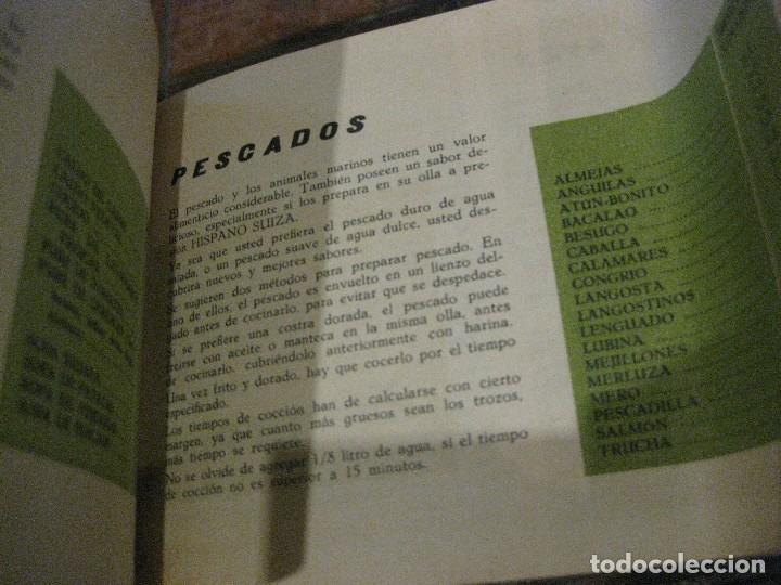 Libros de segunda mano: revista recetario recetas cocina super olla a presion hispano suiza . instrucciones - Foto 4 - 127677403