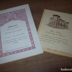 Libros de segunda mano: CARTA DEL ALMUERZO OFRECIDO POR MARE NOSTRUM Y MÚTUA BALEAR A D. JUAN L . PALLISER + POSTAL. 1965. Lote 129039087