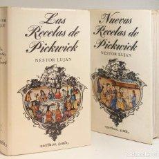 Libros de segunda mano: LA RECETAS DE PICKWICK Y NUEVAS RECETAS ( 2 TOMOS ) DE NÉSTOR LUJÁN. 1ª EDICIÓN. 1969/70. IMPECABLES. Lote 130975784