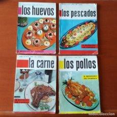 Libros de segunda mano: 4 REVISTAS RECETAS: AMA DE CASA; HUEVOS, PESCADOS, CARNE Y POLLOS. BARCELONA 1961-62. Nº 1, 2, 4, 13. Lote 132173490